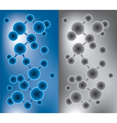 abstract molecule vector image vector image