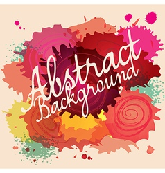 Abstract paint splat colorful background vector