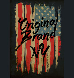 American broken flag vintage flag design vector
