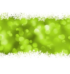 Background green magic lights bokeh EPS 8 vector image vector image