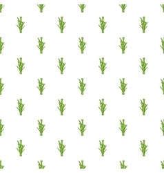 Bamboo pattern cartoon style vector