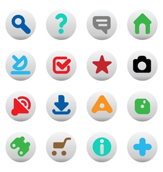 Buttons for website vector image vector image
