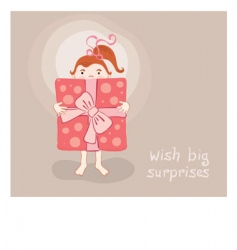 cartoon greeting card vector image