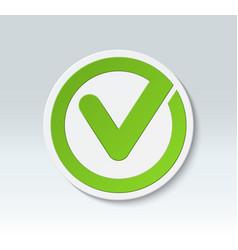 Check mark button tick icon vector