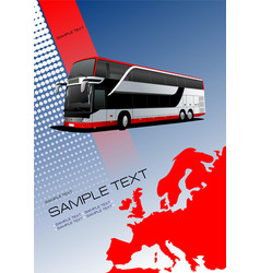 Cover for brochure or template with europe vector
