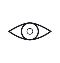 Eye vision look human outline vector