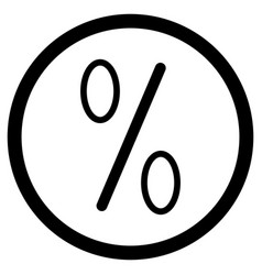 icon percent vector image