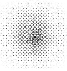 Monochrome geometrical stylized flower pattern - vector