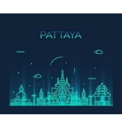 Pattaya Trendy linear style vector image vector image