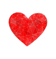 Red heart abstract vector image