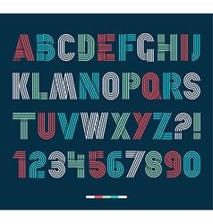 Retro stripes funky fonts settrendy elegant retro vector image vector image