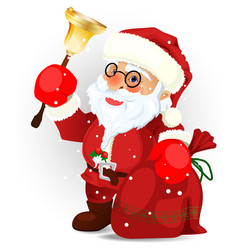 santa claus on the white eps 10 vector image
