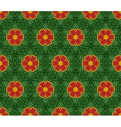 Seamless decorative color retro pattern vector image
