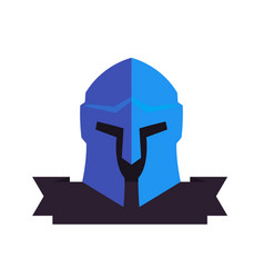 spartan helmet logo elements on white vector image vector image