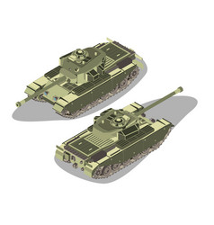 tank isometric military war icon isolated vector image vector image