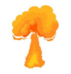 Terrible explosion icon cartoon style vector