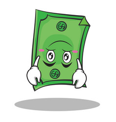 Upside down face dollar character cartoon style vector