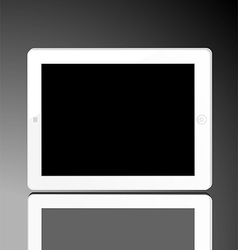 vertical computer tablet vector image