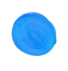 Watercolor round spot blue vector image