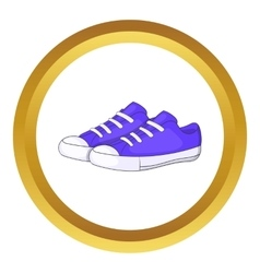 Womens purple sneakers icon vector