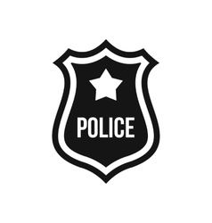 Police badge icon simple style vector