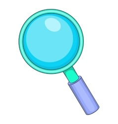 Magnifying glass icon cartoon style vector