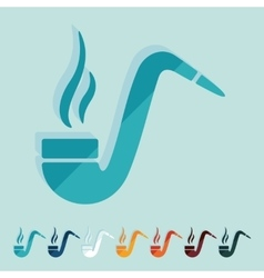 Flat design tobacco pipe vector
