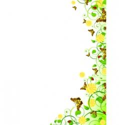 vertical floral frame vector image