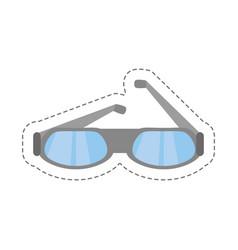 Cartoon glasses eye protect modern icon vector