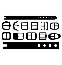 set of different belt buckles vector image