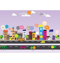 140715 City Speech Bubbles vector image vector image