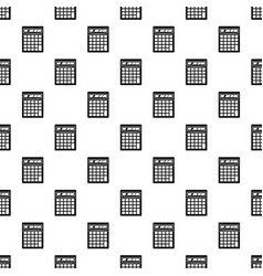 electronic calculator pattern vector image