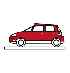 car cartoon silhouette vector image