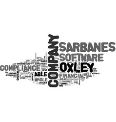 Is your business compliant with sarbanes oxley vector