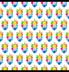 Colorful grapes bunch pattern design vector
