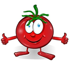 Fun tomato cartoon vector