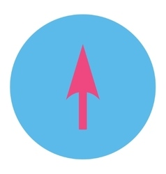 Arrow axis y flat pink and blue colors round vector