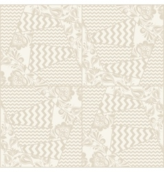 Vintage seamless patchwork pattern vector
