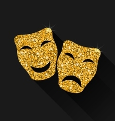 Comedy and tragedy masks vector