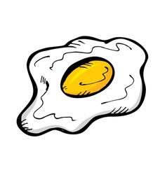 Sunny side up egg vector