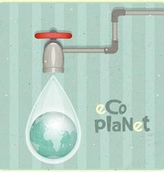 Water planet vector image