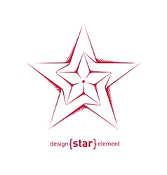 Abstract sketch of star vector image