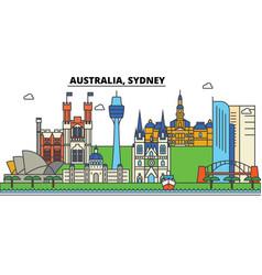 australia sydney city skyline architecture vector image