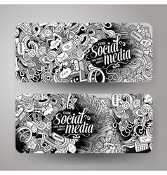 Cartoon doodles internet banners vector image vector image