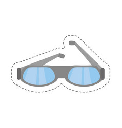 Cartoon glasses eye protect modern icon vector