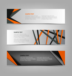 collection banners with abstract triangles and vector image