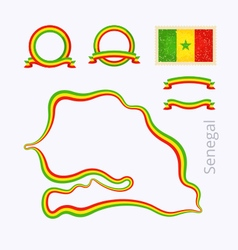 Colors of Senegal vector image vector image