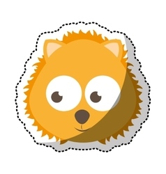 Cute lion tender character vector