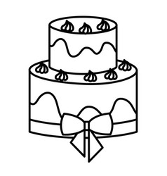 delicious and sweet cake icon vector image vector image