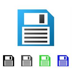 Floppy disk flat gradient icon vector